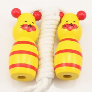 Skipping rope, Wood, Yellow, 1.88m, 1  piece, (TTS0006)